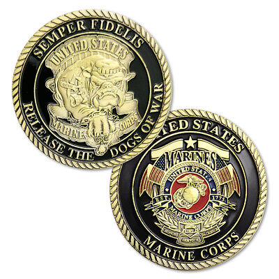 United States Marine Corp Devil Dog Military Challenge Coin Semper Fidelis Craft