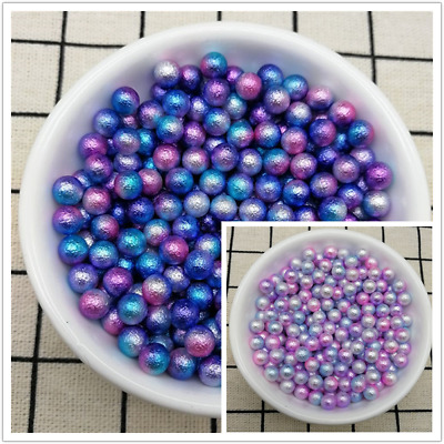 4 / 5 / 6 mm Acrylic Nonporous Round Pearl Spacer Loose Beads Jewelry Making