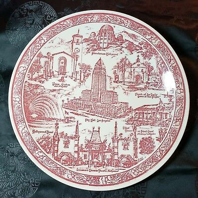 Vintage Los Angeles Collector Plate - design by Vernon Kilns City of Angels