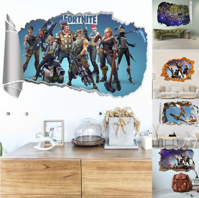 3D for Fortnite Royal Game Removable Wall Stickers Vinyl Room Wallpaper Decals