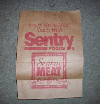Vintage SENTRY FOODS Brown Grocery Store Bag LARGE
