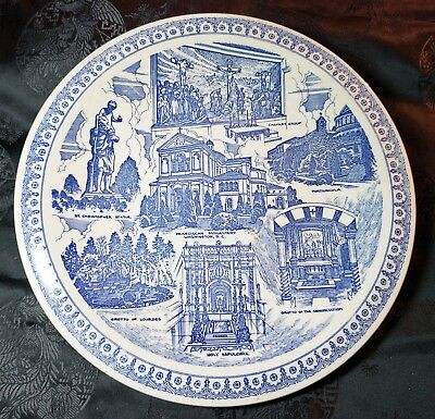 Historic Franciscan Monastery Washington D.C. Collector Plate by Vernon Kilns