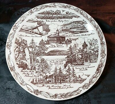 Historic Tennessee - the Volunteer State Collector Plate by Vernon Kilns