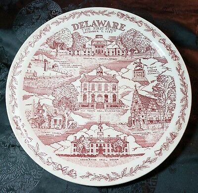 Historic Delaware State Collector Plate by Vernon Kilns