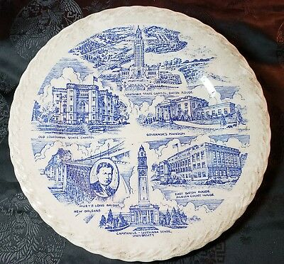 Historic Baton Rouge - Capital of Louisiana Collector Plate by Vernon Kilns