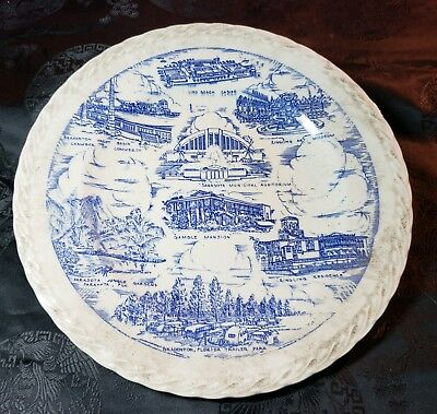 Historic Scenes from Sarasota & Bradenton, FL Collector Plate by Vernon Kilns