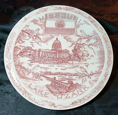 Historic State of Missouri Collector Plate by Vernon Kilns