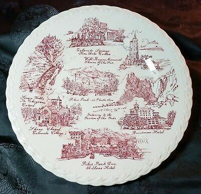 Historic Colorado Springs - City of Sunshine Collector Plate by Vernon Kilns