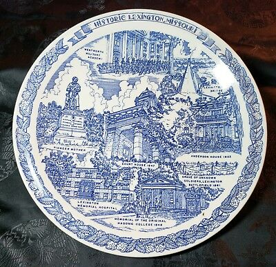 Historic Old Lexington, Missouri Collector Plate by Vernon Kilns The Lion's Club