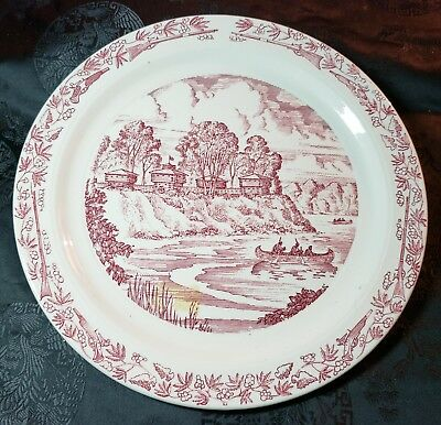Historic Fort Defiance Ohio Collector Plate by Vernon Kilns  1794-1944