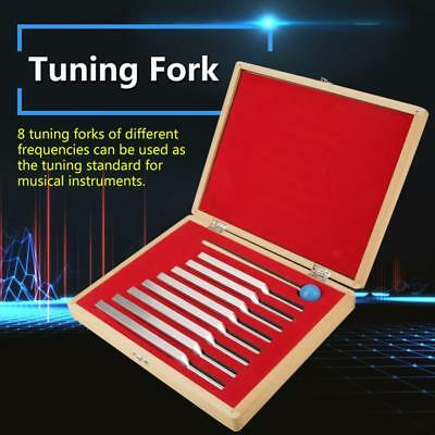 8X Aluminum Medical Tuning Fork Chakra Heal Sound Vibration Therapy+Mallet+Case