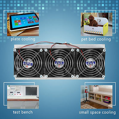 Trinuclear Thermoelectric Peltier Refrigeration Air Cooling System Kit Cooler UB