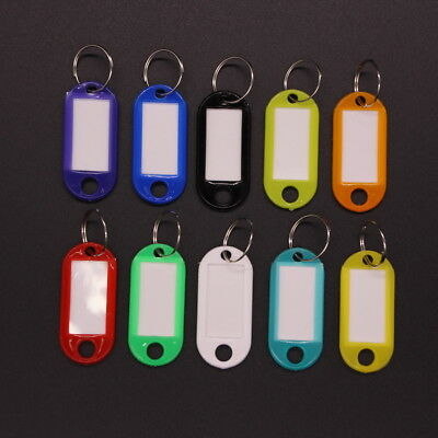 50/100 PCS Plastic Label Key Ring Tags Keychain Key ID Label Luggage Name Tag