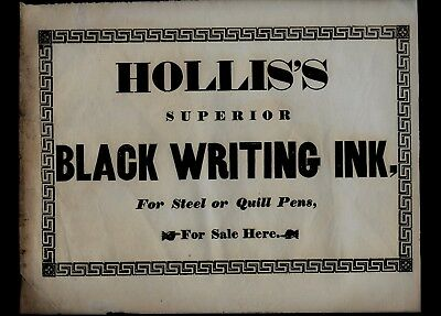 Group of 7 Advertising Broadsides from HOLLIS DRUG Company in Boston, MA - NICE!