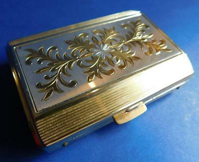 Vintage Ladies Wind up 'Musical' 1950s Powder Compact Case in Box
