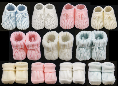 Baby booties knitted shoes socks boy girl unisex