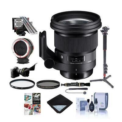 Sigma 105mm f/1.4 DG ART HSM Lens for Nikon DSLR Cameras W/Pro Acc Bundle