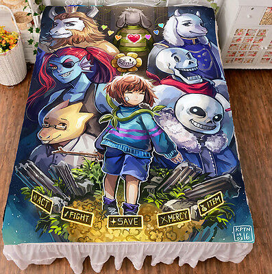 Game Undertale Sans Papyrus Cool Summer Flat Bed Sheet Birthday Gift #SDF02