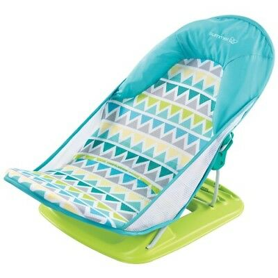 Summer Infant Bath Deluxe Baby Bather Triangle - Green & Blue