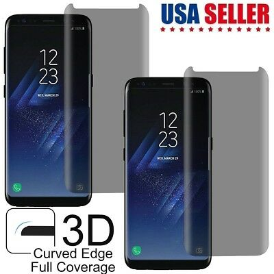 Samsung S8 S9 Plus Note 9 Privacy Case Friendly Tempered Glass Screen Protector