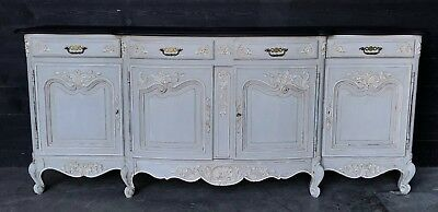 French Louis XV Painted Dresser Base Sideboard Buffet Cupboard circa 1880