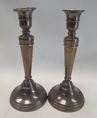Pair Of STERLING SILVER Filled Candlesticks London 1911 - N22