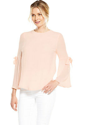 V By Very Tie Bell Sleeve Blouse