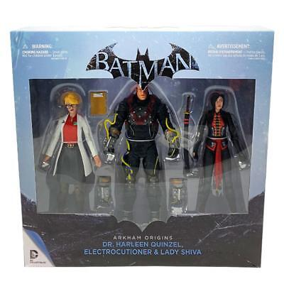 Dc Comics Batman Arkham Origins Harleen Electrocutioner & Shiva 3Pk Figure Set