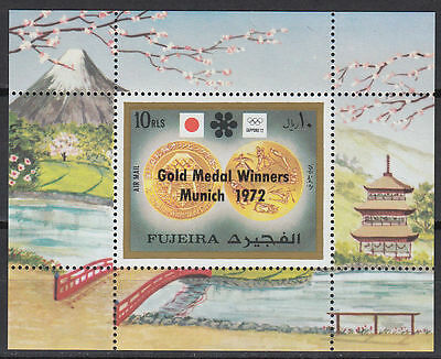 Fujeira 1972 ** Bl.205 A Olympische Spiele Olympic Games with black ovpt.