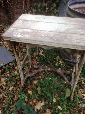 Vintage Pioneer Mangle with table top garden art/shop etc.