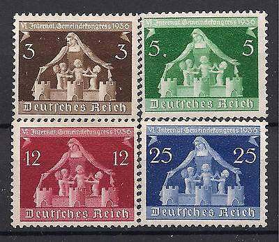 Germany 3rd Reich Mi# 617-620 MNH 6th International Local Goverment Congress **