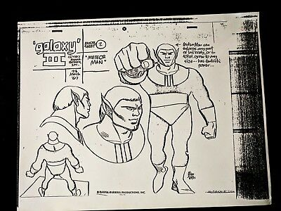 Birdman & the Galaxy Trio Animation Production METEOR MAN Model Copy ALEX TOTH