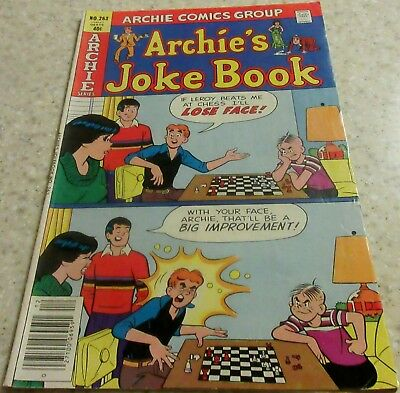 Archie's Joke Book 263, (FN 6.0) 1979, 30% off Guide! Chess cover!