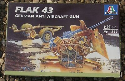 Italeri 363 - Flak 43 , German Anti Aircraft Gun , 1:35