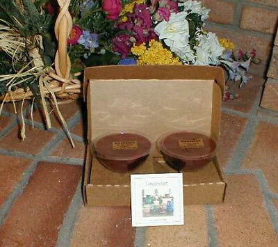Longaberger Dessert Bowl Candles Macintosh Apple  Set Of 6 New In Original Boxes