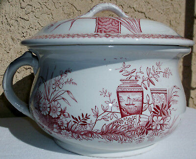 Antique Transferware Turner Sons Benedick Chamber Pot Aesthetics Secessesionist