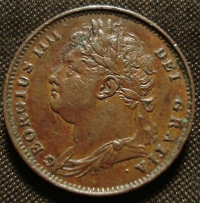 1821 George Iv Farthing Nice Higher Grade Coin