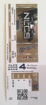 2018 Brewers Vs Dodgers Game 7 Nlcs Ticket Stub World Series Bound Free Ship