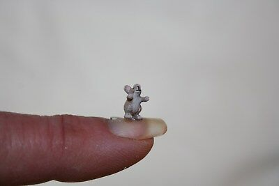 Miniature Dollhouse Barbara Ann Meyer TEENIE Mouse w Long Tail 1:12 1:24 NR