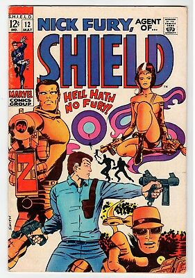 Marvel NICK FURY, AGENT OF SHIELD #12 - Smith Art - G May 1969 Vintage Comic