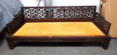 Vintage Chinese / Asian Hand Carved  Rosewood Opium Bed