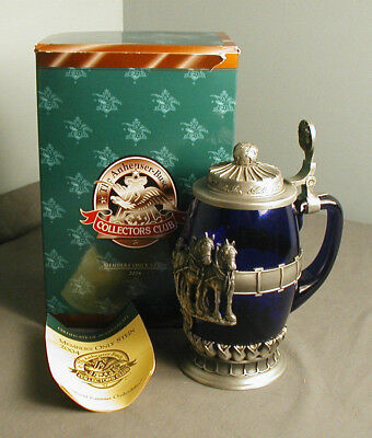 NIB ANHEUSER-BUSCH MEMBERS ONLY STEIN #5934 - 2004 FAMOUS CYLDESDALES CB29  5 ns