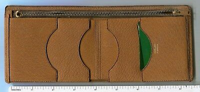 English Pigskin Wallet ~ Tan/Honey Brown ~ Original Condition