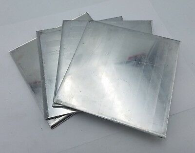 4 PC 5-1/2 x 5-3/8 x 3/16 Aluminum Sheet Plate Scrap Metal Stock Bar Flat Shim