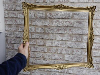 """really old picture frame GOLD fits a 17 inch X 15"""" painting"""