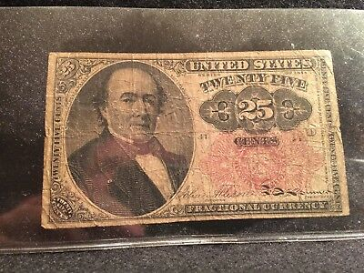 25 cent Fractional Currency Series of 1874 Robert J.Walker