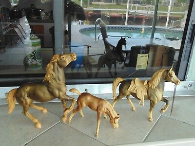 Old Vintage Breyer Horse Lot Of 3 Breyer Molding Co Toy's Poney
