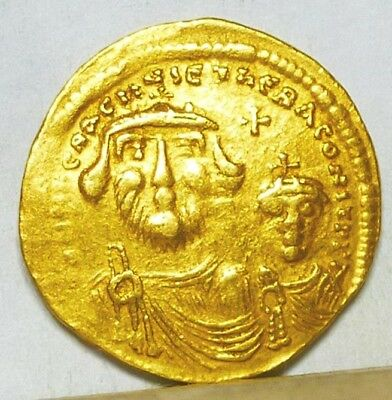 Byzantine Gold Solidus of Heraclius 613-641 VF/Extremely Fine