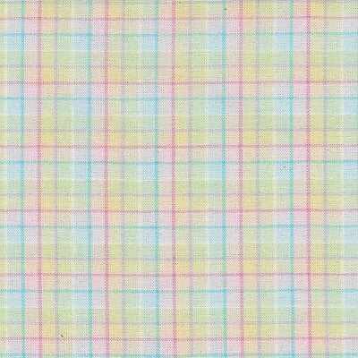 Longberger Easter Plaid Pastel Fabric 5 Yards 100% Cotton 45 Inches Wide New