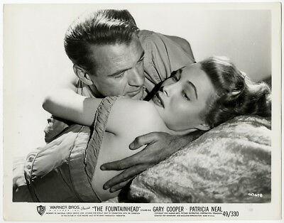Gary Cooper Patricia Neal Sultry Clinch Photograph The Fountainhead Vintage 1949